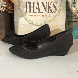 CityClassified brown wedges size 10